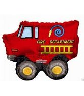 "13"" Airfill Fire Dept. Birthday M705"