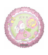 "18"" It&#39s a Girl Bunny Balloon"