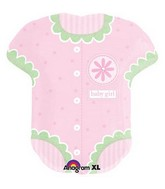 "28"" Jumbo Baby Girl Onesie Shaped Mylar Balloon"