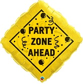 "34"" Party Zone Ahead Balloon"