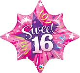 "25"" Sweet 16 Star Balloon"