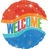 "18"" Welcome Mylar Balloon"
