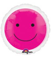 "18"" Magicolor Pink Smiley Face"