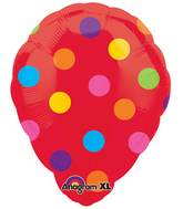 "18"" Red Polka Dot Perfect Balloon"