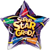 "18"" Super Star Grad Mylar Balloon"