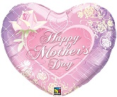 "24"" Jumbo Happy Mother&#39s Day Heart Balloon"