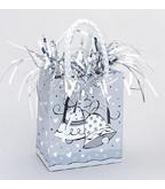 5.5OZ Silver Wedding Bells Balloon Bag Weight