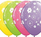 "11"" Daisies In Bloom Latex Assortment Balloon"