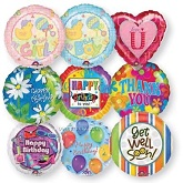 "100 Assorted 18"" Balloons (Slightly Damaged Print)"