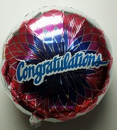 "30"" Congragulations Flower Mylar Balloon"