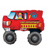 "36"" Firetruck Red Balloon"
