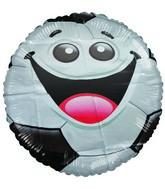 "18"" Little Friend Kit Soccer Balll Happy Face Balloon"