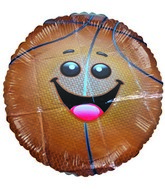 "18"" Little Friend Kit Basketball Happy face balloon"