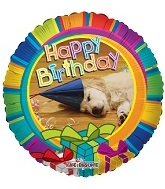 "9"" Airfill Happy Birthday Dog Balloon"