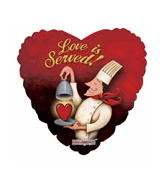 "18"" Love is Served Balloon"