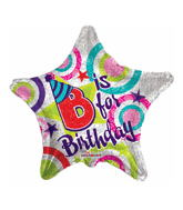 "18""  P is for Party & B is for Birthday Balloon"