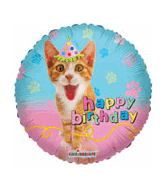 "18"" Happy Birthday Cat Party Balloon"