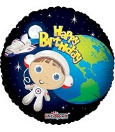 "18"" Happy Birthday Astronaut Boy"