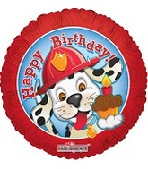 "18"" Happy Birthday Fire Dalmation"