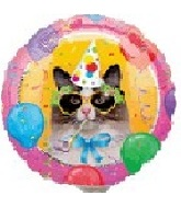 "9"" Airfill Party Cat Balloon"
