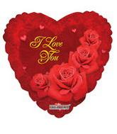 "36"" I Love You Classic Roses Balloon"
