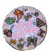 "18"" Fluttering Butterflies Birthday Balloon"