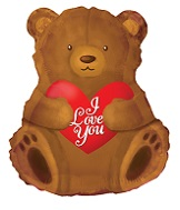 "22"" I Love You Bear Heart"