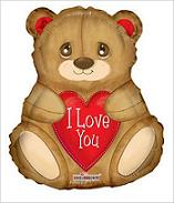 "18"" I Love You Balloon Bear Shape"