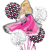 Barbie Glamour 5 Balloon Bouquet