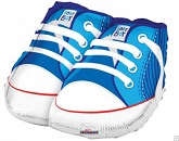 "18"" Baby Boy Shoes Shape Mylar Balloon"