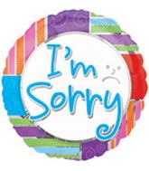 "18"" Colorful I&#39m Sorry Foil Balloon"
