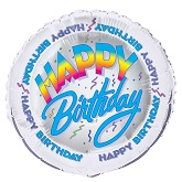 "18"" Happy Birthday Celebration Mylar Balloon"
