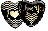 "18"" I Love You Golden Chevron"