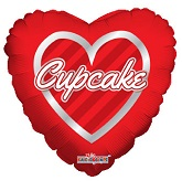"9"" Airfill Only Cupcake Hearts Wreath"