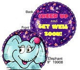 "9"" Airfill Only Lil&#39 Fuzzies Elephant balloon"