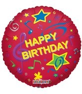 "18"" Foil Balloon Happy Birthday Musical"