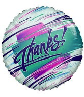 "9"" Thanks Colors Airfil-Only Mylar Balloon"