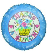 "9"" Thanks a Bunch! Flower Basket Airfill-Only Mylar Balloon"