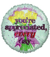"9"" You&#39re Appreciated Everyday bouquet Airfil-Only Balloon"