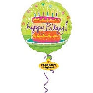 "32"" Happy Birthday Cake Lighted Balloon"