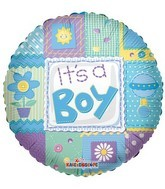 "18"" Foil Balloon It's A Boy Quilt"