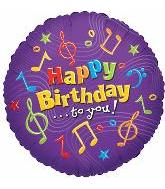 "18"" Happy Birthday to you Music Notes 5B64"