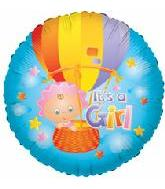 "18"" Baby Girl Hot Air Balloon"