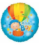 "18"" Baby Boy Hot Air Balloon"