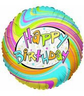 "18"" Foil Balloon Happy Birthday Rainbow"