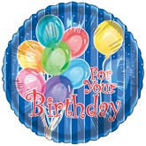 "20"" For Your Birthday Blue Mylar Balloon"