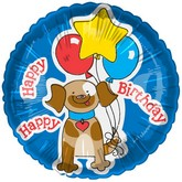 "20"" Happy Dog With Birthday Wishes Balloon"