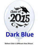"11"" Class of 2015 Grad Stars Dark Blue (50 ct.)"