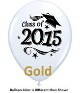 "11"" Class of 2015 Grad Stars Gold (50 ct.)"