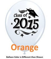 "11"" Class of 2015 Grad Stars Orange (50 ct.)"